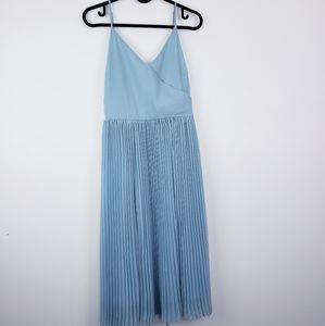 BLACK TAPE|Dress Strappy Crossover V Neck